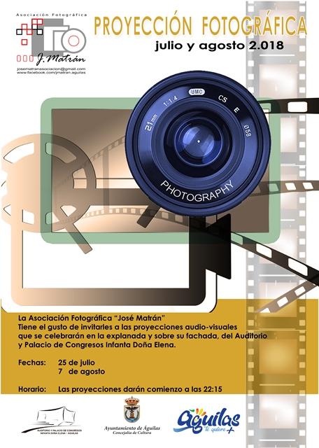 Proyecciones de Fotografías. Asociación José Matrán.