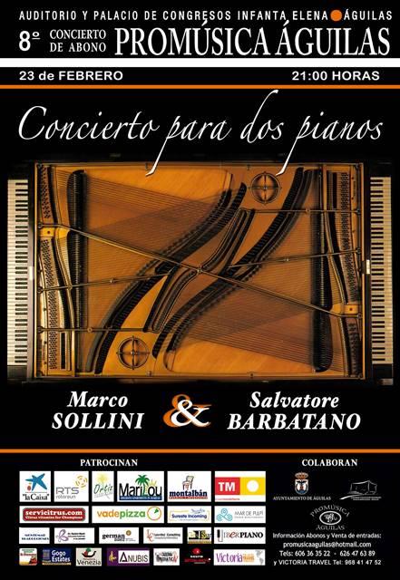 Concierto para dos pianos. 8º Concierto de Abono.