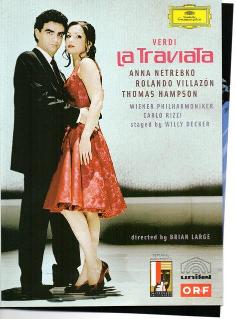 La Traviata, de Giuseppe Verdi. Opera. Proyecci�n en la fachada del Auditorio.