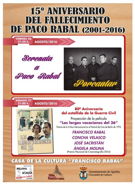 15� Aniversario del fallecimiento de Paco Rabal (2001-2016)